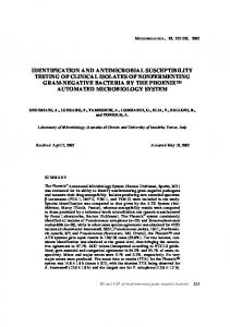 identification and antimicrobial susceptibility testing of ... - CiteSeerX