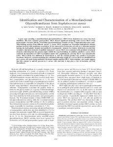 Identification and Characterization of a Monofunctional ...