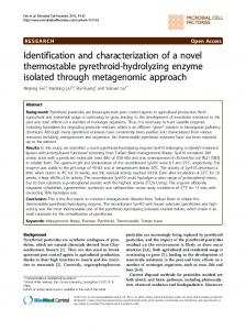 Identification and characterization of a novel