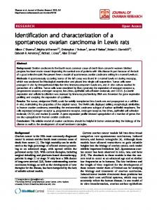 Identification and characterization of a spontaneous ovarian ...