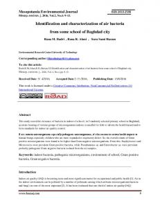 Identification and characterization of air bacteria from some school of ...