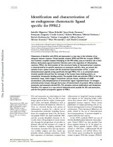 Identification and characterization of an endogenous ... - BioMedSearch