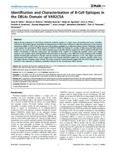 Identification and Characterization of B-Cell