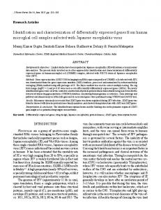 Identification and characterization of differentially expressed genes ...