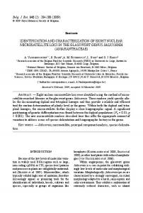 identification and characterization of eight nuclear ...