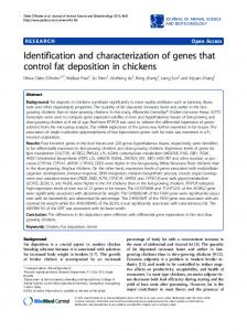 Identification and characterization of genes that control ... - Springer Link