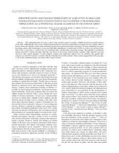 identification and characterization of sarcoptes scabiei ... - CiteSeerX