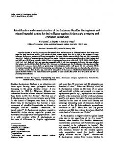 Identification and characterization of the Sudanese Bacillus ...