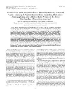Identification and Characterization of Three Differentially Expressed ...