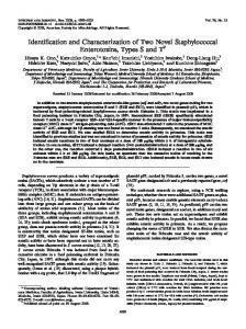 Identification and Characterization of Two Novel Staphylococcal ...