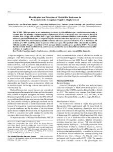 Identification and Detection of Methicillin