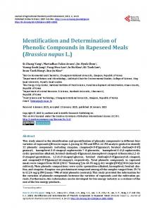 Identification and Determination of Phenolic Compounds - Scientific