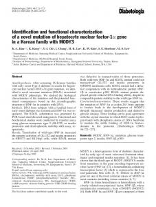 Identification and functional characterization of a novel mutation of ...