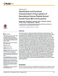 Identification and Functional Characterization of Glycosylation of ...