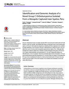 Identification and Genomic Analysis of a Novel ... - Semantic Scholar