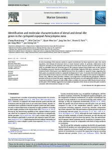 Identification and molecular characterization of dorsal ...