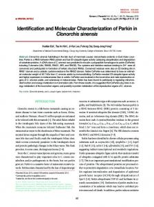 Identification and Molecular Characterization of