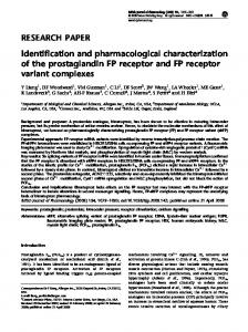 Identification and pharmacological ... - Semantic Scholar