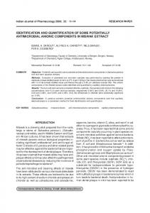 identification and quantification of some potentially ... - MedIND