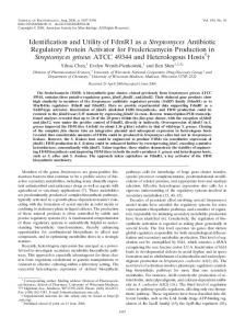 Identification and Utility of FdmR1 as a Streptomyces Antibiotic ...