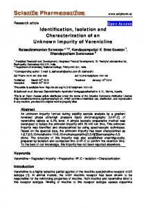 Identification, Isolation and Characterization of an ... - Semantic Scholar