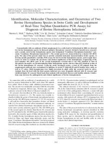 Identification, Molecular Characterization, and Occurrence of Two ...