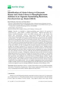 Identification of 2-keto-3-deoxy-D-Gluconate Kinase and 2-keto-3 ...