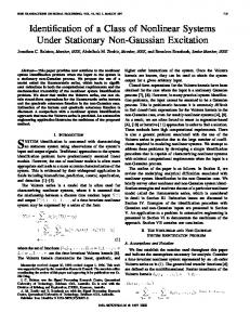 Identification of a Class of Nonlinear Systems Under Stationary Non ...