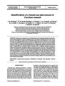 Identification of a female sex pheromone in Carcinus maenas