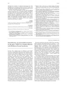 Identification of a frameshift mutation in the gene TWIST in a family ...