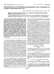 Identification of a novel quinone-binding site in the cytochrome bo ...