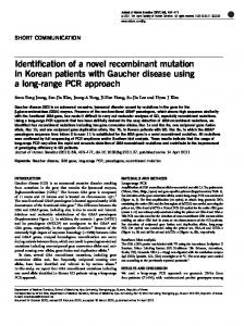 Identification of a novel recombinant mutation in ...