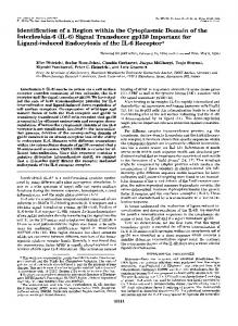Identification of a region within the cytoplasmic domain of the ...
