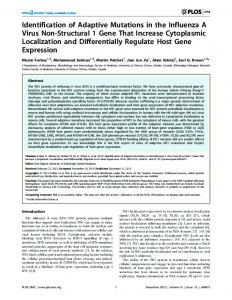 Identification of Adaptive Mutations in the Influenza