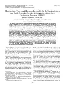 Identification of Amino Acid Residues Responsible for the ...