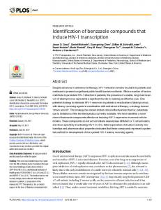 Identification of benzazole compounds that induce HIV-1 ... - PLOS