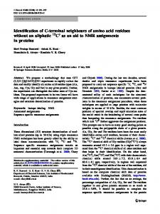 Identification of C-terminal neighbours of amino acid ... - Springer Link