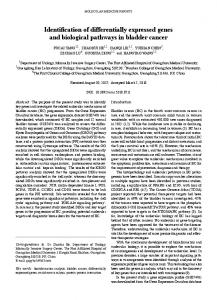 Identification of differentially expressed genes and ...