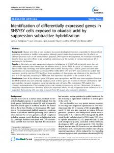 Identification of differentially expressed genes in ... - BioMedSearch