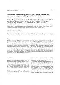 Identification of differentially expressed genes in clear cell renal cell ...
