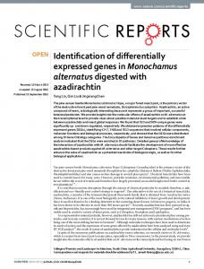 Identification of differentially expressed genes in