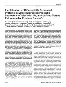 Identification of Differentially Expressed Proteins in ... - Thomas Kislinger