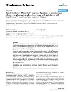 Identification of differentially expressed proteins in spontaneous