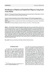 Identification of Diploid and Triploid Red Tilapia by Using ... - Caryologia