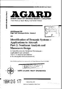 Identification of Dynamic Systems - Defense Technical Information ...