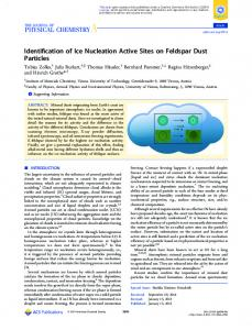 Identification of Ice Nucleation Active Sites on Feldspar Dust Particles