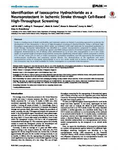 Identification of Isoxsuprine Hydrochloride as a Neuroprotectant in ...