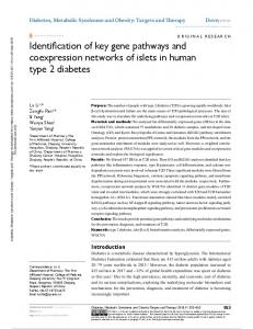 Identification of key gene pathways and coexpression