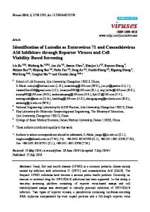 Identification of Luteolin as Enterovirus 71 and ... - BioMedSearch