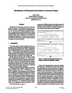 Identification of Mathematical Expressions in Document ... - IEEE Xplore